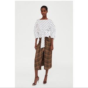 Zara Checked MIDI skirt worn once